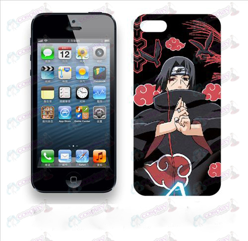 A Apple iPhone5 telefone shell 006 (Naruto Red Cloud)