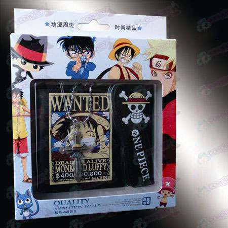 Cruz colar co-carregado carteira - Luffy Procurado