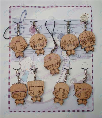 The Prince of Tennis Acessórios Wood Carving Strap (9 / set)