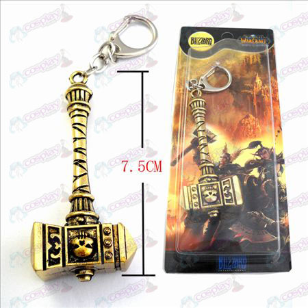 World of Warcraft Warhammer Acessórios Marshal Mundial Bronze Keychain