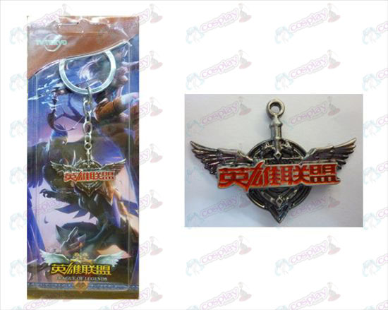 League of Legends Acessórios logotipo keychain