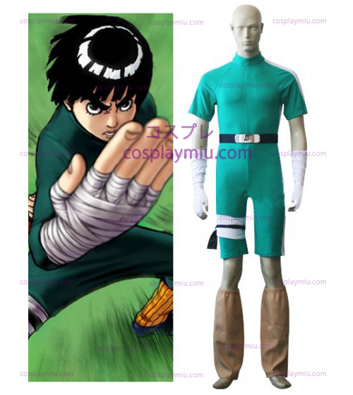 Naruto Rock Lee Cosplay mangas curtas