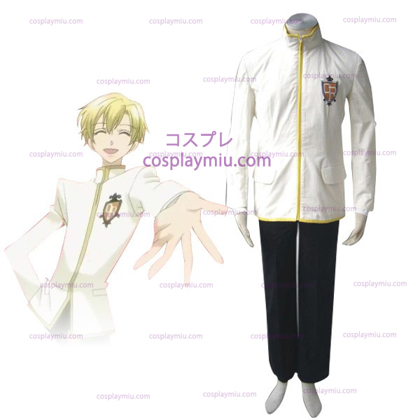 Branco Ouran High School de Host Club Boy Cosplay Uniforme
