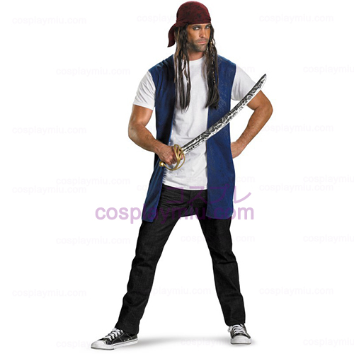 Piratas do Caribe - o Capitão Jack Sparrow Adulto Traje Kit