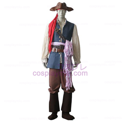 Piratas do Caribe Capitão Jack Sparrow Cosplay