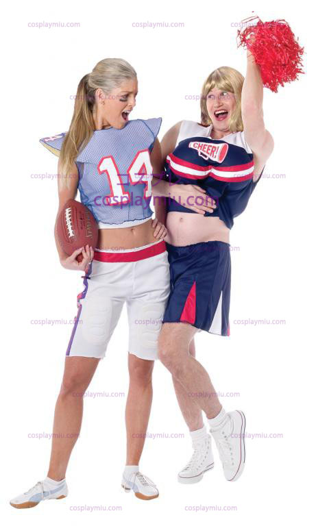 Cheerleader traje adulto Guy