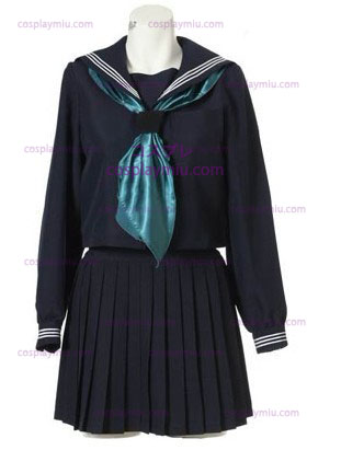 Mangas compridas Sailor Escola Cosplay Uniforme