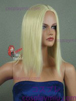 "16 ""Midpart peruca de Cosplay Loiro Natural"