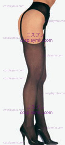 Suspender Sheer Pantyhose preto mais