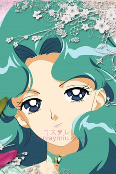 Sailor Moon Kaiou Michiru Sailor Neptune Cosplay Peruca