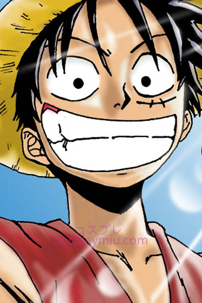 One Piece Monkey D. Luffy Curto Peruca Cosplay